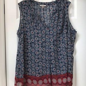 Roz & Ali button down blouse women's size 3X